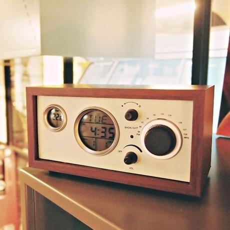 radio vintage en bois